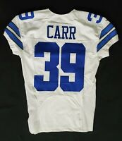 #39 Brandon Carr of Dallas Cowboys Locker Room Game Issued Jersey w PRAVO Patch