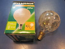 Rarity - Sylvania Mini Globe Lamp E14 60W G60 Crocodile Ice Gold Decor Bulbs