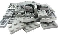 LEGO 200 x City Star Wars Teile mod Platten Noppen Winkel Gitter  neu hellgrau