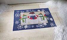 wunderschöne Fussmatte, kl. Teppich, 3 Schneemänner, rutschfest, 72x48cm, neu