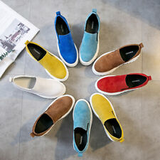 Women Casual Heightened Platform Shoes Lazy Loafers Shoes Faux Suede