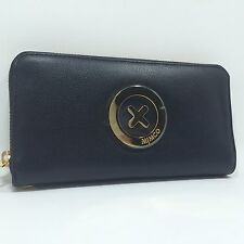 BNWT MIMCO supernatural zip WALLET in black & gold plating mobil slot
