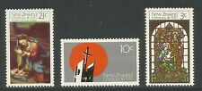 New Zealand 1970 Christmas--Attractive Art/Architecture Topical (464-66) MNH