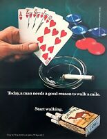 1971 Royal Straight Flush Poker Hand photo Camel Cigarettes vintage print ad