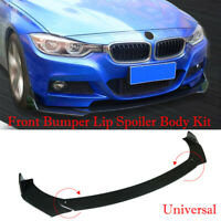 Universal 1770mm Glossy Black ABS Front Bumper Lip Chin Spoiler Wing Body Kit