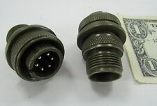 2 Amphenol Sz 14 Military Circular Connectors 6 Pole Male x Solder MS3106A14S-6P