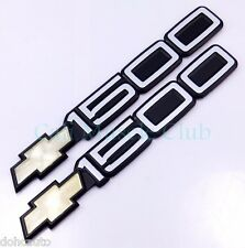 Chevy 1500 Bowtie Door Non-Moulding Emblem Badge Silverado Suburban Tahoe 2pc