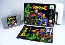 RAMPAGE WORLD TOUR für Nintendo 64 - N64 Spiel Modul komplett Anleitung und OVP
