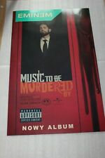 Eminem - Music to be Murdered by - POSTER CARDBOARD 2020 HUGE  PROMO RARE