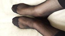 ***Fantastic 2 Pairs Men's One Size Black Dress Nylon Sheer Socks by Osbor***