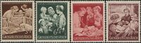 Stamp Germany Mi 869-72 Sc B253-6 1944 WW2 Fascism Welfare Doctor Nurse MNH