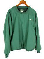 Orvis Mens Large Nylon Pullover Windbreaker Green Fly Fishing Logo Outdoors