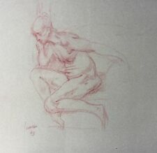 Harry Carmean figure drawing of female model red pencil1993