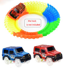 Amazing 2 Cars Glow in the Dark Racetrack Light Up Race Car Toy for Magic Track