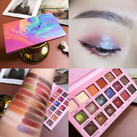 Matte Pearlescent Glitter Eye Shadow 18 Colors Pigment Eye Shadow Palette G5Tw