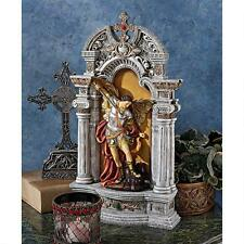 "15"" Archangel St. Michael Justice and Honor Angel Sculpture Baroque Niche Statue"
