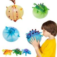 Dinosaur Blow Up Inflatable Balloon Ball Funny Bouncing Kids Toy Sensory St X9W8