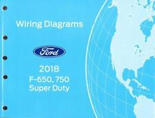 2018 Ford F650 F750 Super Duty OEM Factory Wiring Diagrams Schematics Manual