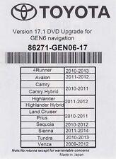 2010 2011 2012 2013 Toyota 4Runner Navigation 2018 Map Update DVD Gen 6 17.1 U99