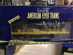 AMERICAN FLYER S SCALE 48412 ALASKA TRIPLE DOME TANK CAR 3/16 train nos
