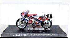 MODELLINI MOTO GP HONDA RS125 RS 125 1:24 MOTOR BIKE MOTOGP MINIATURE CAPIROSSI