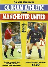 OLDHAM ATHLETIC V MANCHESTER UNITED F.A. CUP SEMI FINAL 1990 MATCHDAY PROGRAMME