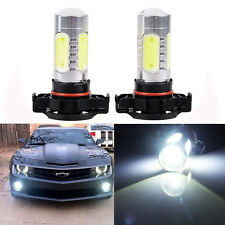 2 x White H16 High Power LED Projector Lens Fog Driving DRL Bulbs 5202 #1