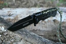 Tac-Force Spring Assisted Paracord Wrapped Tactical Folding Pocket Knife New
