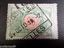 BELGIQUE 1902, timbre COLIS POSTAUX 31, TRAINS, oblitéré, PARCEL POST USED STAMP