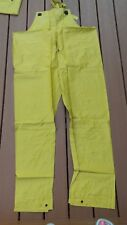Rainfair Rain Jacket Pants SZ XL Bibs Hood  Yellow PVC Protective Clothing