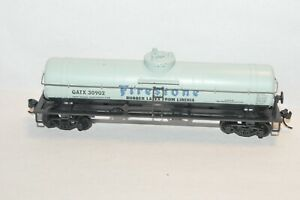 HO scale Athearn GATX Firestone Rubber 42' single dome tank car train