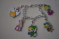 Charm Bracelet Zelda Kitsch Silver Plated