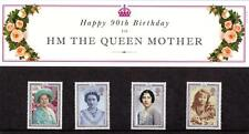 GB 1990 THE QUEEN MOTHER 90th  PRESENTATION PACK 210 SG 1507 1510 MINT STAMP