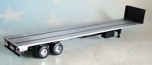 FIRST GEAR 48' BLACK FLATBED TRAILER 1/64 DCP 60-0516 T