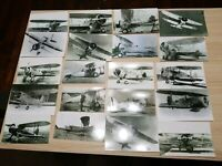 LOT OF 20 VINTAGE WW2 MILITARY BIPLANE AIRPLANE PHOTO REPRINT COLLECTION
