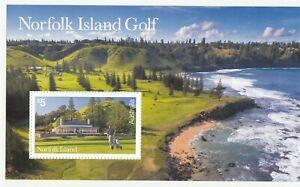 2018 Norfolk isl. Golf $5.00 miniature sheet. MUH. Going cheap