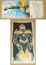 2014 Marvel Premier DOUBLE hinged 5-sketch panel card Robert Jimenez NOVA