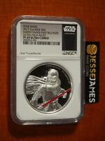 2017 $5 NIUE PROOF SILVER DARTH VADER STAR WARS NGC PF69 ULTRA CAMEO FR HR 2 OZ
