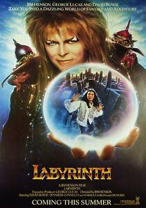 LABYRINTH Classic 80's Vintage Movie Poster - Wall Film Art Print - Dance