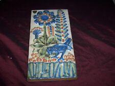 Vintage Michael Andersen 6216 Bornholmsk Keramik Wandbild, Reliefplatte Dänemark