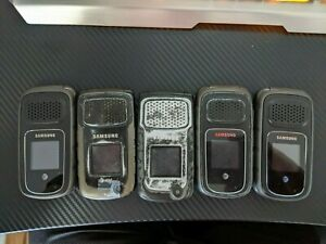 Good Used (AT&T) SAMSUNG RUGBY 3 & 2  Rugged Flip Phone Lot of 5 Clean IMEI