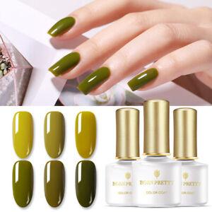 BORN PRETTY 6ml UV Gellack Olive Green Color Soak Off Nagel Kunst Gel Varnish