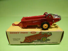 DINKY TOYS 321 MASSEY HARRIS MANURE SPREADER - NEAR MINT CONDITION IN BOX