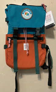 NEW Topo Designs Rover Pack classic with logo madewell turquoise copper wash
