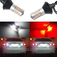 White/Red Switchback 7440 T20 LED Conversion Kit For Car Reverse Backup Lights