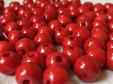 500 RED COLOUR ROUND WOOD JEWELLERY MAKING BEADS CRAFTS 5mm W0055