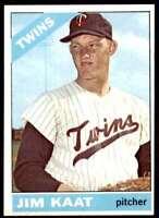 1966 Topps Set Break Jim Kaat Minnesota Twins #445