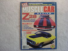 Muscle Car Review 1988 February Z28, 442, Boss 302, SD Pontiac, LS6 Chevelle