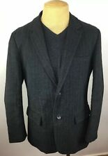 Gap Mens Gray Blazer Sport Coat 2 Button Cotton Jacket Size Large