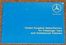 1993 MERCEDES-BENZ UK Sales & Service Handbook for Cars & Commercial Vehicles